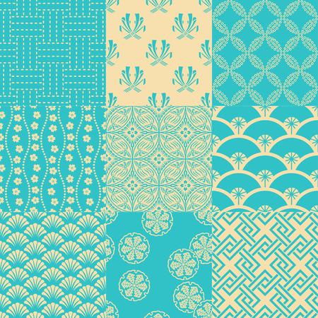 seamless traditional japanese pattern Illustration