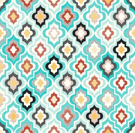 seamless doodle dots geometric pattern Illustration