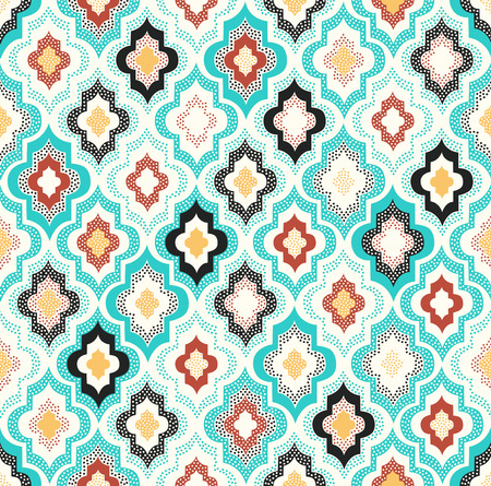 seamless doodle dots geometric pattern Çizim