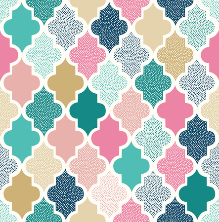 seamless doodle dots geometric pattern  イラスト・ベクター素材