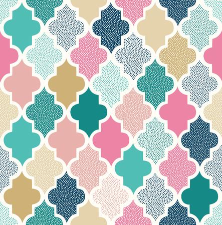 seamless doodle dots geometric pattern Stock Illustratie
