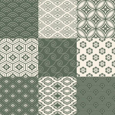 seamless japanese traditional pattern Vectores