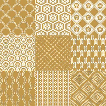 seamless japanese traditional pattern Çizim