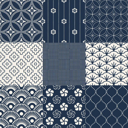japanese background: seamless japanese traditional pattern Illustration
