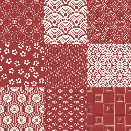 seamless japanese traditional pattern 일러스트