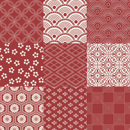 seamless japanese traditional pattern 矢量图像