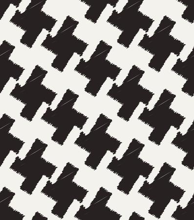 원활한 검은 색과 흰색 체크 무늬 직물 일러스트