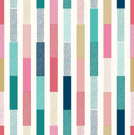 원활한 낙서 점 세로 줄무늬 패치 워크 패턴