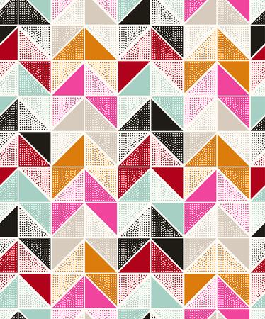 fuchsia: seamless dots geometric triangle pattern