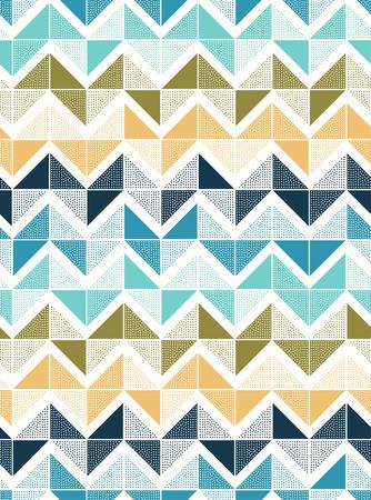 seamless doodle dots zigzag tiles pattern