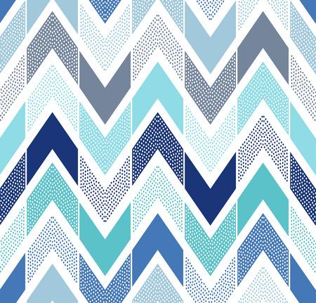 naadloze doodle stippen zigzaggen tegels patroon