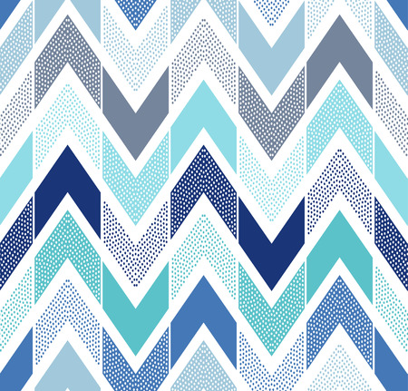 seamless doodle dots zigzag tiles pattern