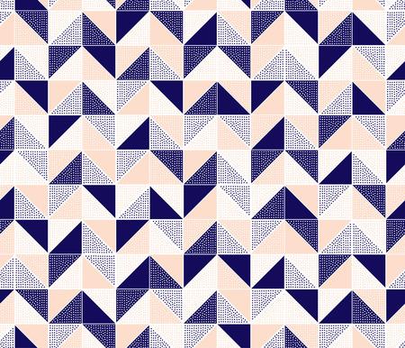 Nahtlose doodle Punkte Zickzack-Muster-Fliesen Standard-Bild - 36990110