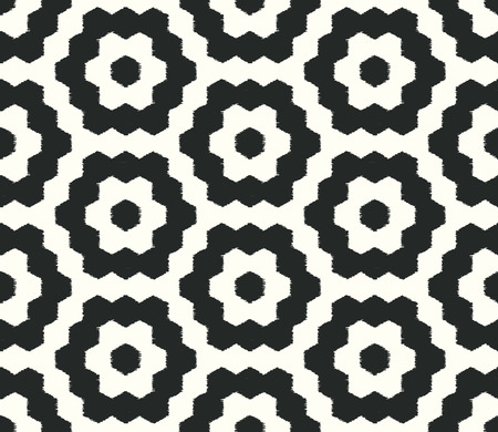 hexagonal pattern: seamless doodle dots vertical stripes patchwork pattern Illustration