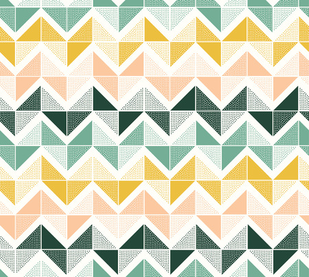 zigzag: seamless dots geometric triangle zigzag pattern Illustration