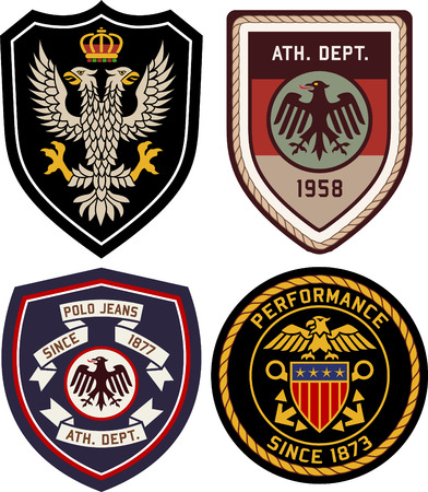 royal classic heraldic emblem badge shield Vettoriali