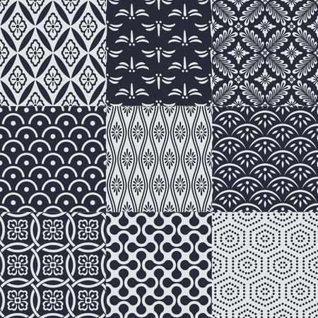 seamless japanese mesh pattern Reklamní fotografie - 37464504