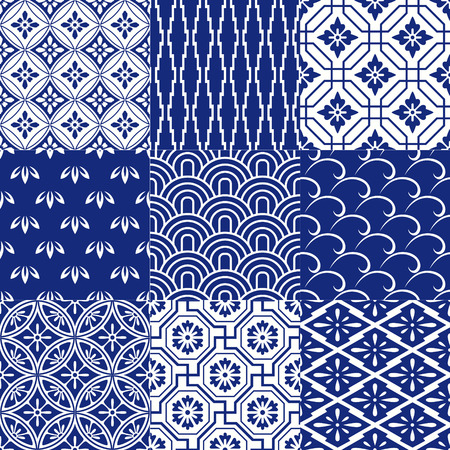 シームレスな日本メッシュ パターン  イラスト・ベクター素材