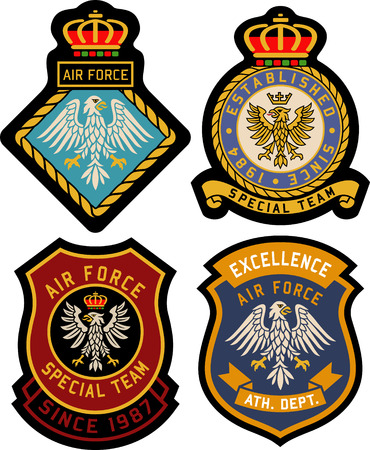 royal classic heraldic emblem badge shield Illustration