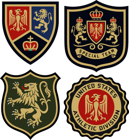 royal classic heraldic emblem badge shield Vector