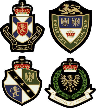 escudo: heráldica clásica emblema real escudo insignia