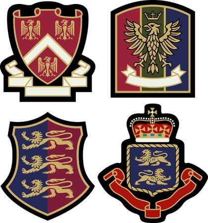 classic heraldic royal emblem badge shield Vector