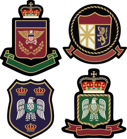 classic royal emblem badge shield Vector