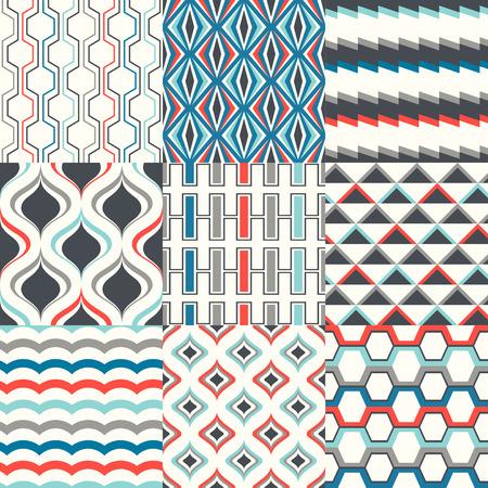 modular rhythm: seamless abstract geometric pattern set Illustration