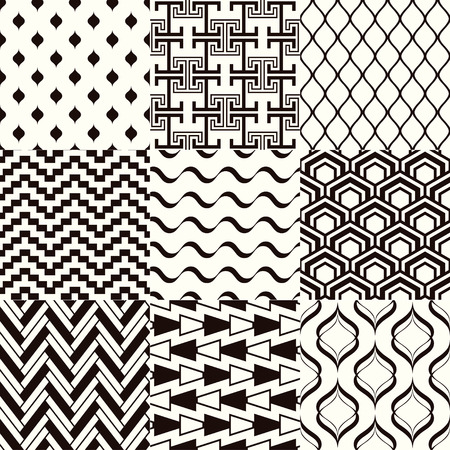vector fabric: seamless monochromatic abstract geometric mesh pattern