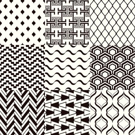monochromatic: seamless monochromatic abstract geometric mesh pattern