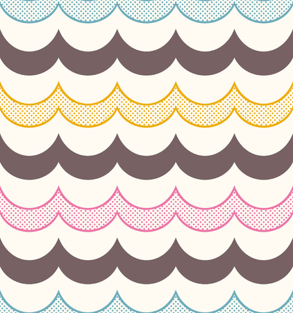 seamless geometric ocean wave pattern Vector