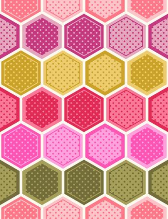 hexagonal: seamless hexagonal background pattern