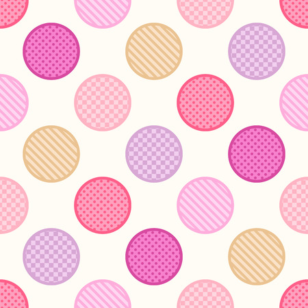 seamless texture circle dots background pattern Vector