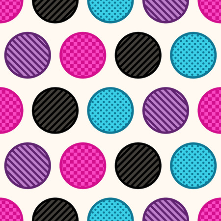 seamless texture colorful circle dots background Vector