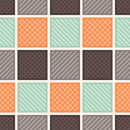 seamless square geometric texture tiles background Vector