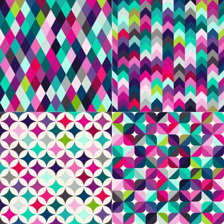 多色のシームレスな幾何学的パターンのテクスチャ背景  イラスト・ベクター素材