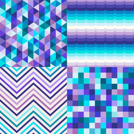 indigo: seamless multicolor geometric pattern textured background Illustration