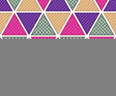 seamless triangle tiles texture pattern Vector