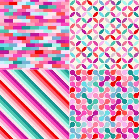 원활한 다채로운 기하학적 패턴 배경