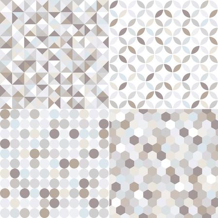 seamless shiny silver geometric pattern