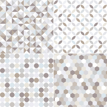 seamless shiny silver geometric pattern