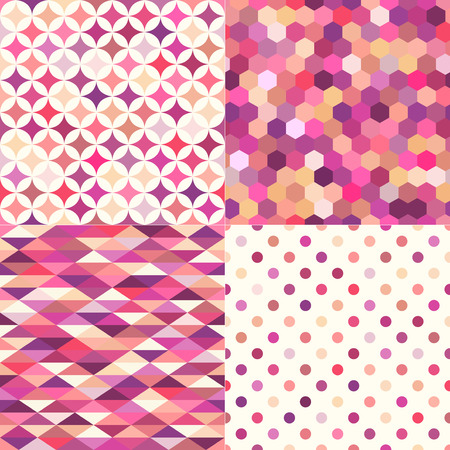 seamless shiny pink multicolor geometric pattern Vector