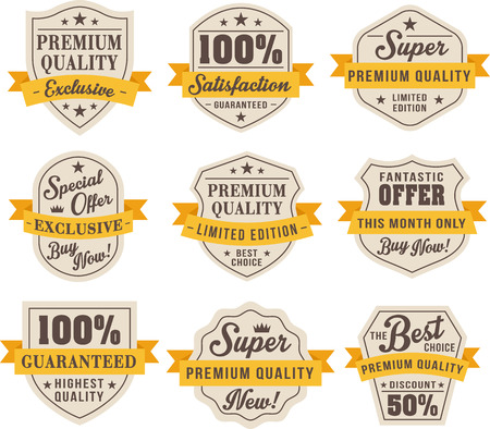 Set of vintage badges and labels Imagens - 43579006