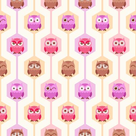 seamless cute birds cartoon wallpaper background
