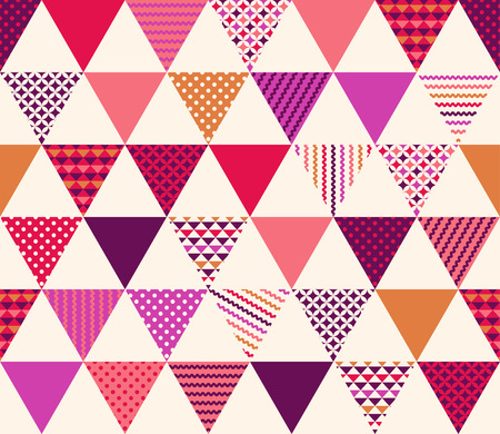 seamless triangle with geometric texture pattern