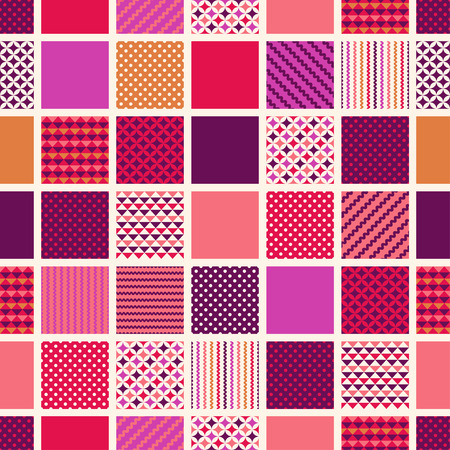 seamless square with geometric texture pattern Ilustrace