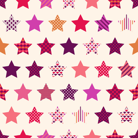 seamless stars with geometric texture pattern