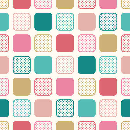 circle design: seamless square dots cartoon pattern