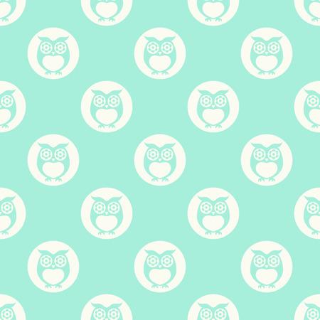 wall paper: seamless owls cartoon background pattern design Illustration