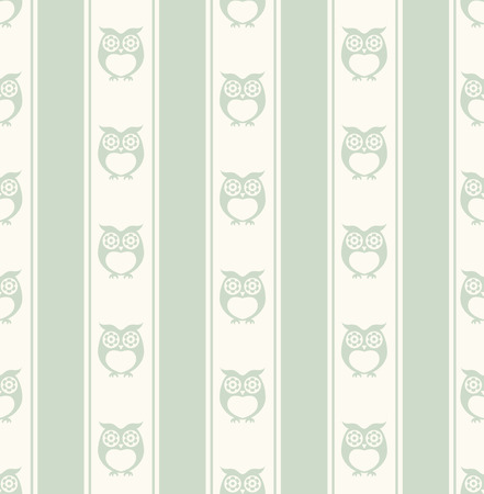 wrap vector: seamless owls wallpaper background pattern Illustration